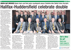 HHDUGC Feature in Yorkshire Golfer